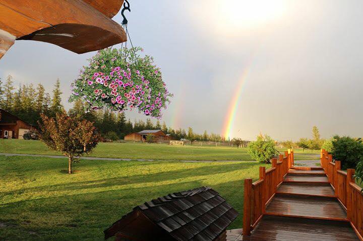 beautiful rainbows over Echo Valley
